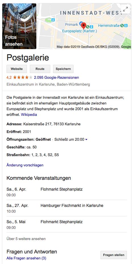 Beispielbild Google My Business