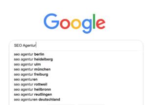 Beispielbild für Google Autosuggest-Funktion