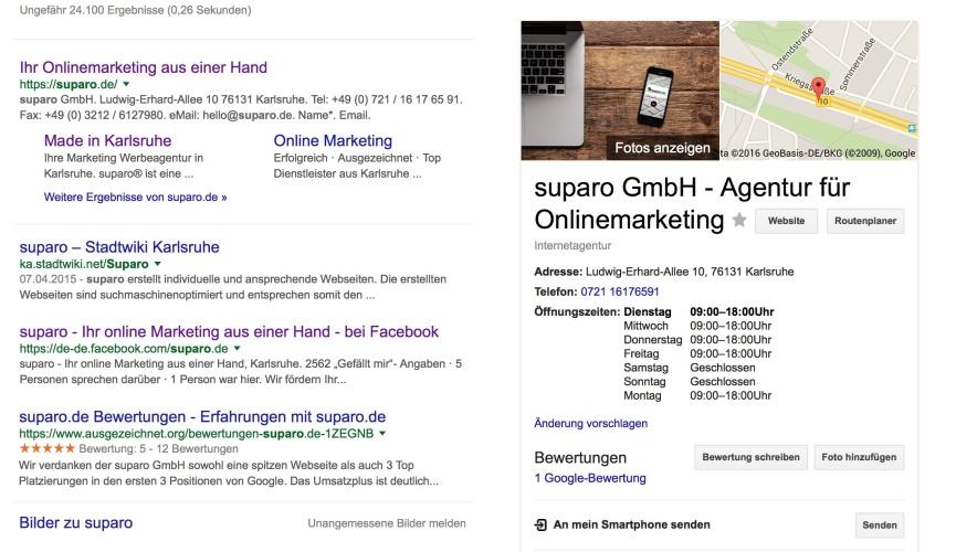 MyBusinessAccount von der suparo GmbH bei GooglePlus