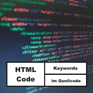 Keywords im Quellcode